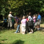 Educating groups at Homeplace 1850s Working Farm and Living History Museum