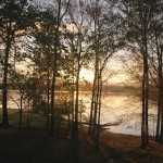 A beautiful sunrise on Bards Lake at Brandon Spring Group Center, Staff Photo