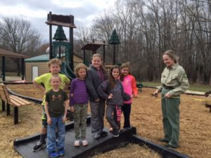 Kids can play on a new playground at Piney Campground in Land Between The Lakes!