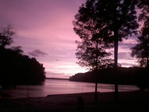 Sunset at Hillman Ferry Campground