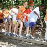 Kids enjoy Brandon Spring Challenge Course