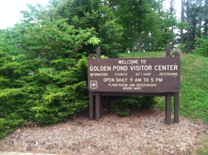 Golden Pond Visitor Center sign