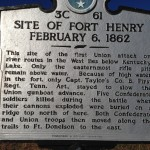 Tennessee Historical Marker for Fort Henry battle February 6, 1862.