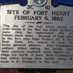 Tennessee Historical Marker for Fort Henry battle February 6, 1862.
