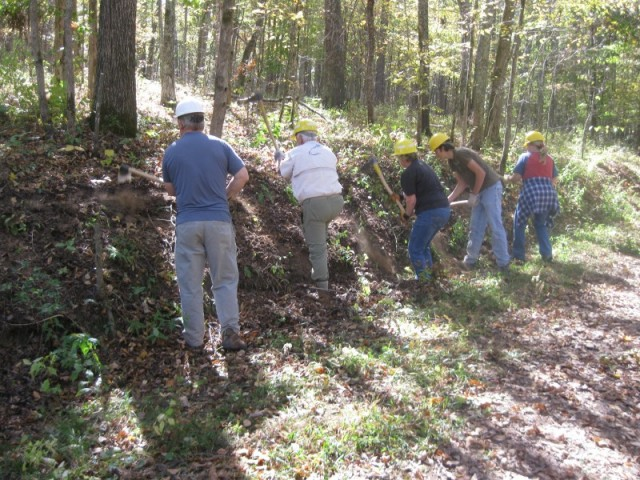 Volunteers helping at Land Between The Lakes