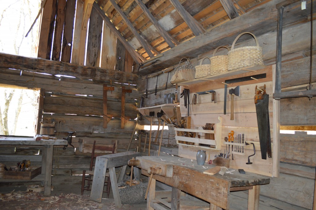 Tool Barn at the Homeplace 1850's Working Farm and Living History Museum