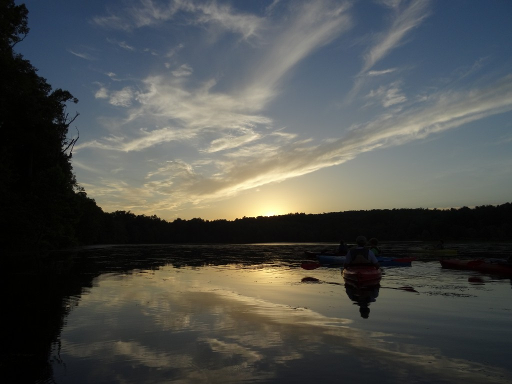 Enjoy a sunset canoe or kayak trip with our Naturalists, Photo by Kelly Sellers