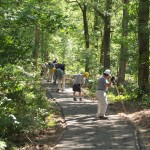 Volunteers doing trail maintenance on Central Hardwoods Scenic Trail
