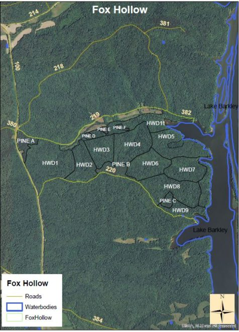 Land Between The Lakes National Recreation Area Fox Hollow Public - Tva hunting maps