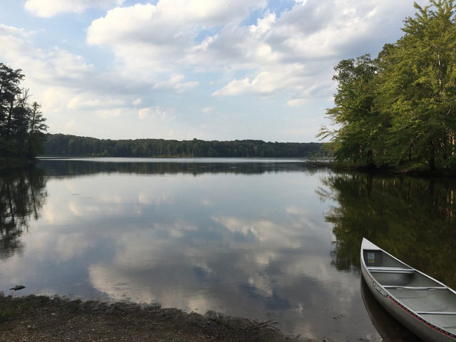 The beauty of canoeing Lake Barkley, Photo by Jeff Laird, Forest Service
